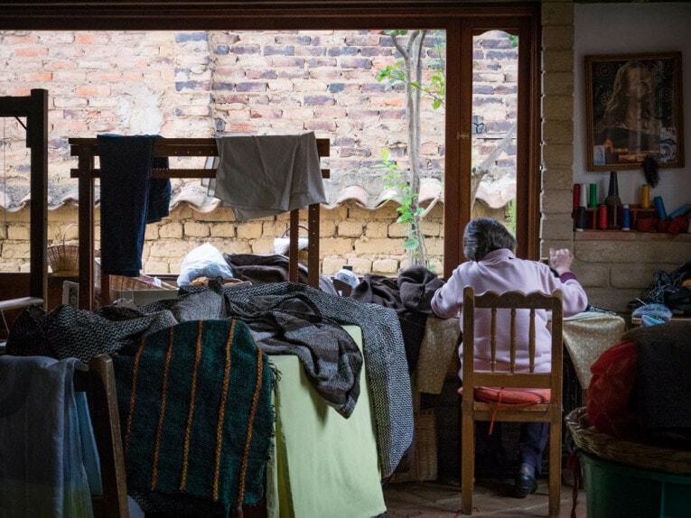 atelier tissage villa de leyva voyage en Colombie