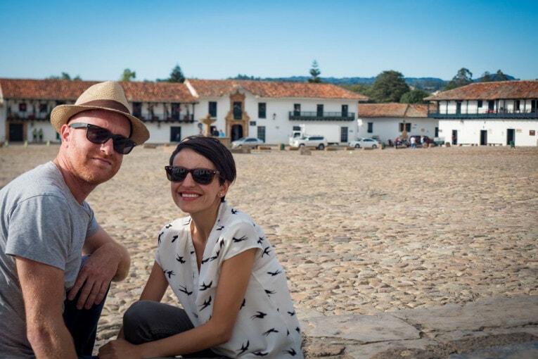 Sur la place de villa de leyva voyage en Colombie