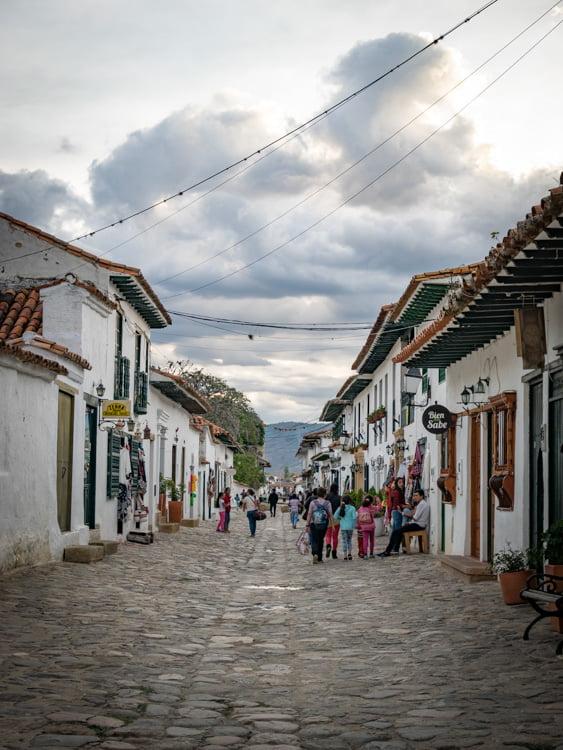 rue de villa de leyva voyage en Colombie