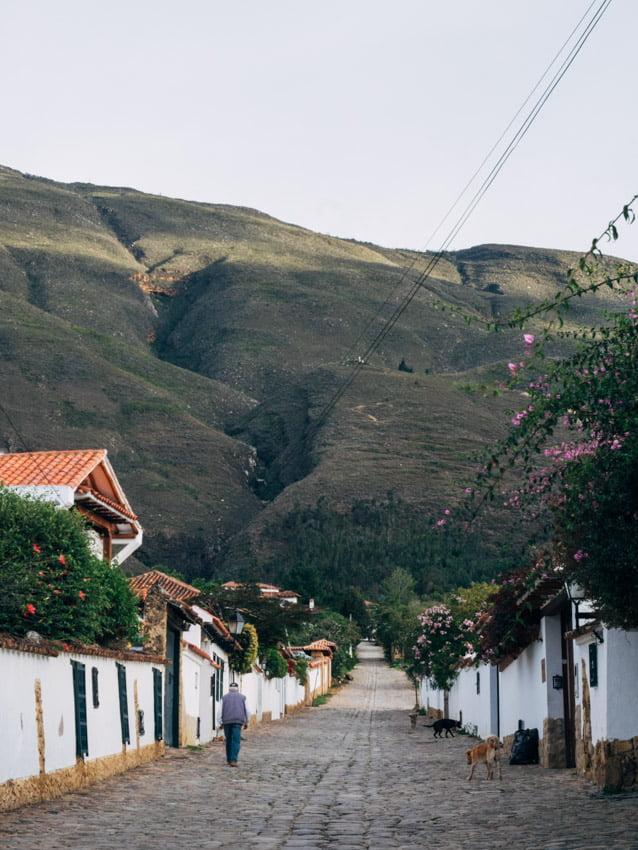 rues de villa de leyva voyage en Colombie