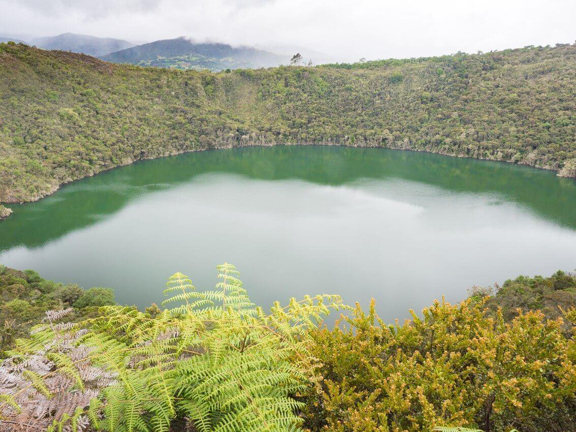 Paysage lagune de Guatavita