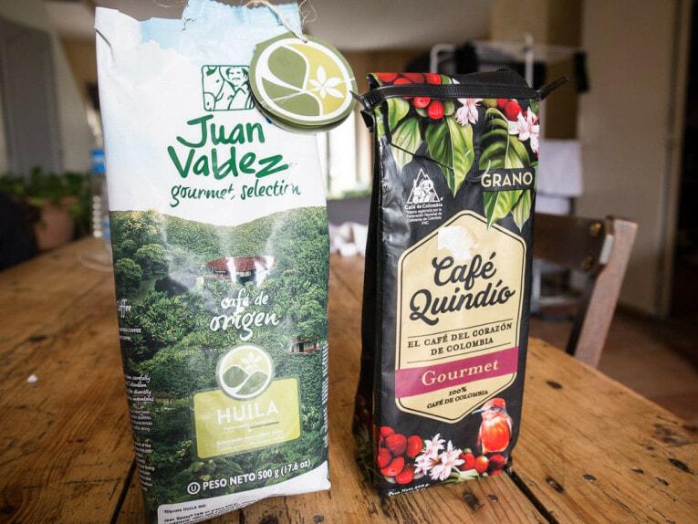 ramener du café juan valdez ou café quindio en souvenir d'un voyage en colombie