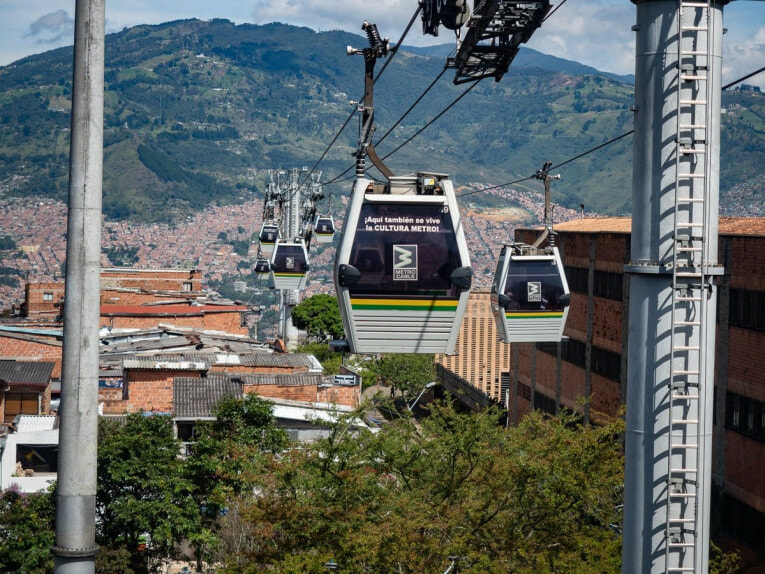 Prendre le Metro cable à Medellin