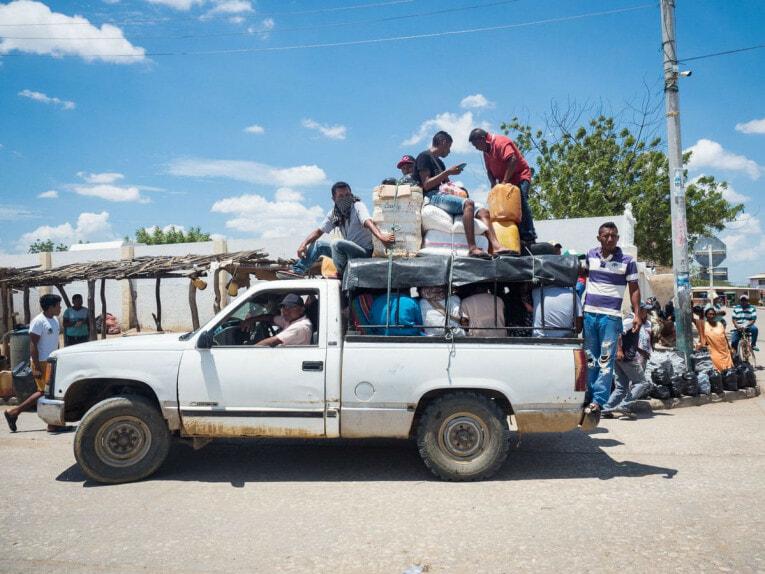 transports en communs desert de la guajira colombie