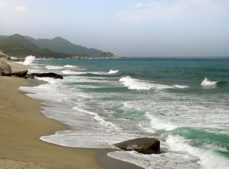 Playa Cañaveral, secteur El Zaino dans le Parc Tayrona en Colombie