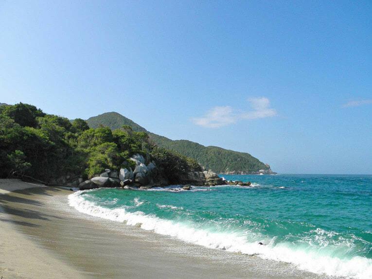 Playa nudista, secteur Calabazo dans le Parc Tayrona en Colombie