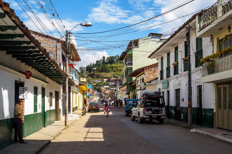 Village de San Agustin dans le Huila en Colombie