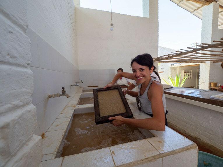 Atelier de papier, Barichara en Colombie