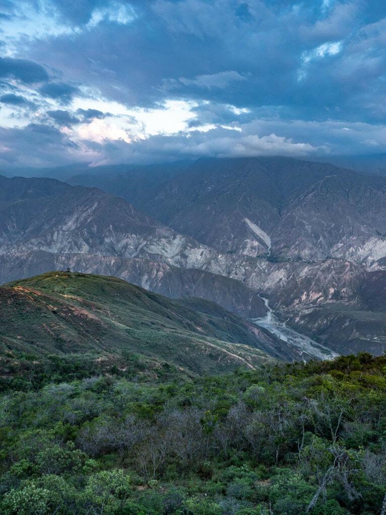 Canyon de Chicamocha en Colombie