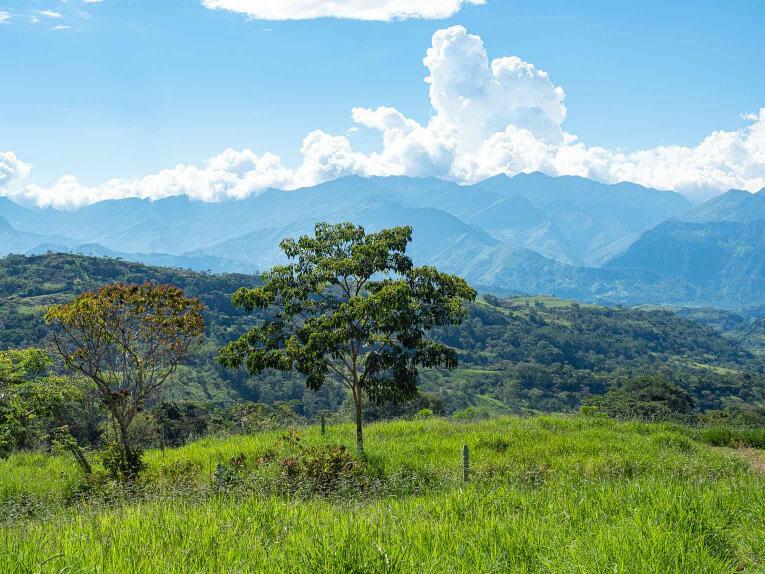 Sur la route de Guadalupe dans le Santander en Colombie
