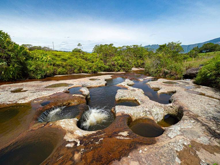 Las Gachas, bassins naturels dans le Santander en Colombie