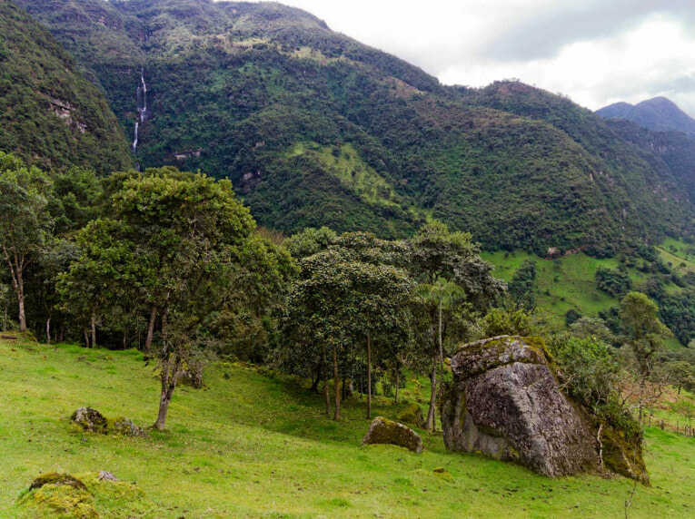 Cascade La Chorrera à Choachí, proche de Bogota