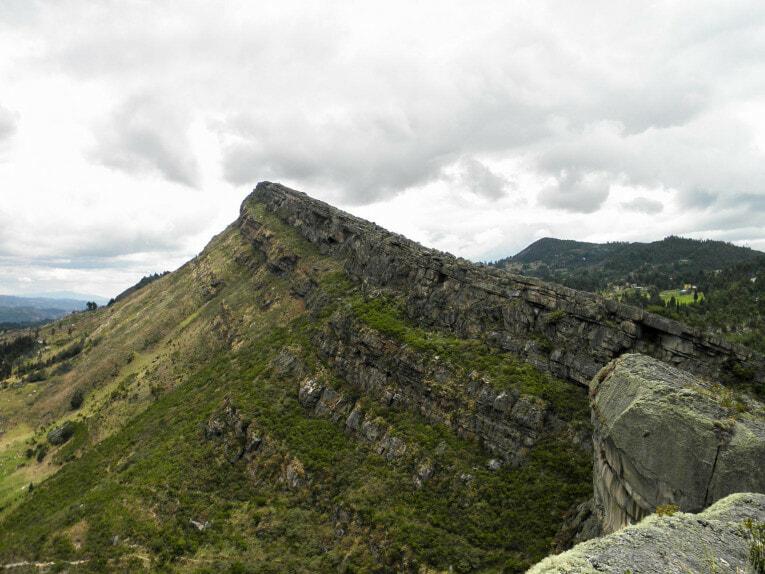 Falaises de Sutatausa, trek proche de Bogota