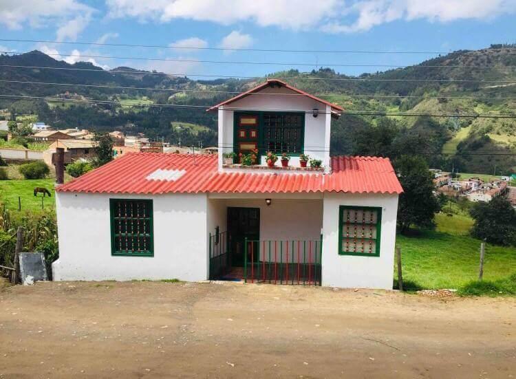 Logement à Mongui près du Paramo de Oceta en Colombie