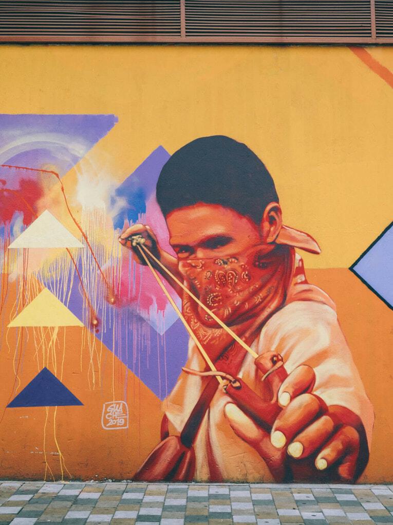Street art à la Candelaria de Bogota en Colombie